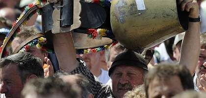 Triumph der Bauern: Vor dem Brandenburger Tor feierten sie ihren Erfolg