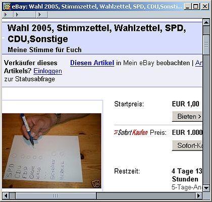 """Stimmenverkauf bei Ebay: """"Wir suchen aktiv"""""""