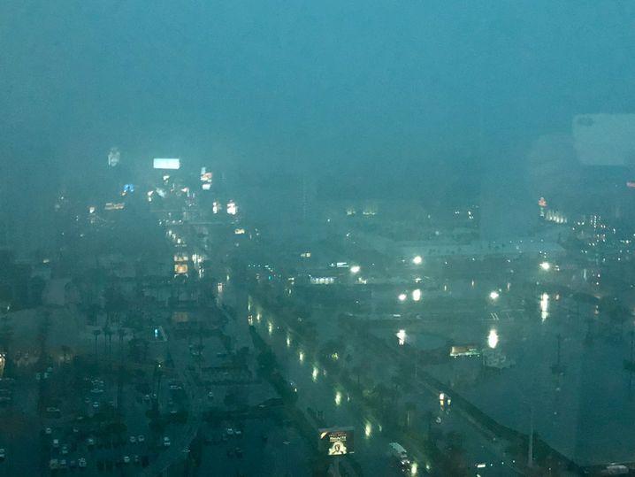 Regenwetter in Las Vegas