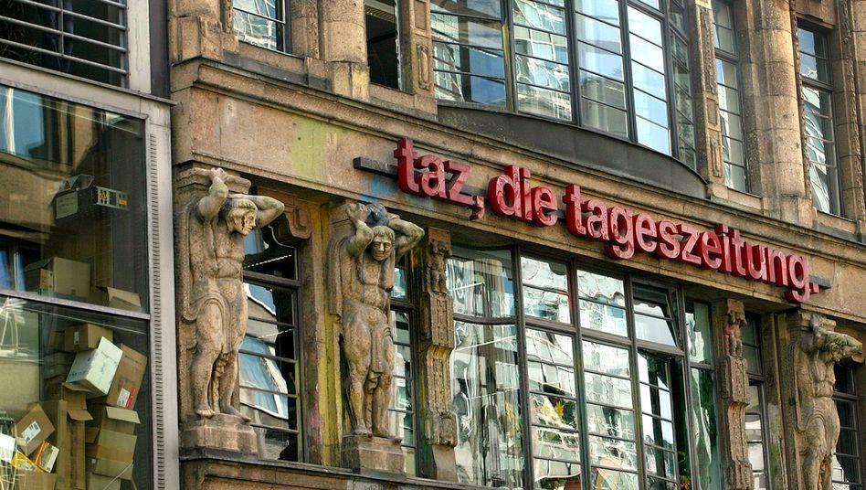 """Das Redaktionsgebäude der """"taz"""" in Berlin: Jede Eingabe mitgeschnitten"""
