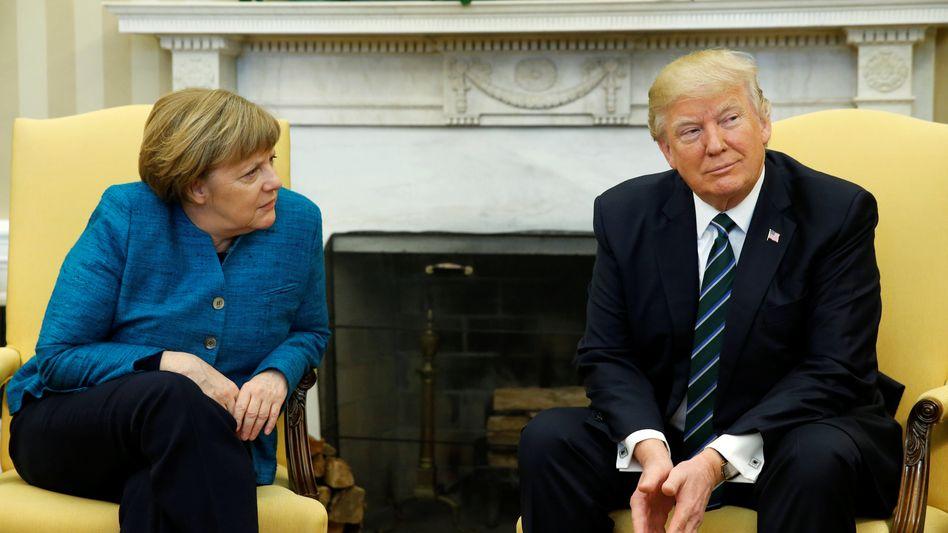 Merkel, Trump im Oval Office