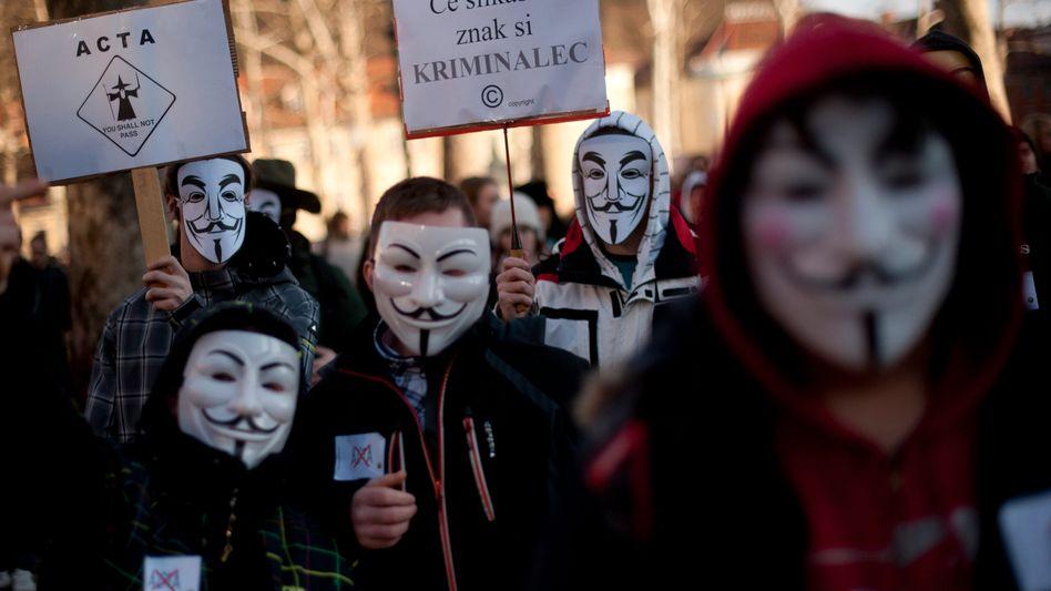 Protest gegen Acta in Slowenien: Der politischer Rückhalt schwindet