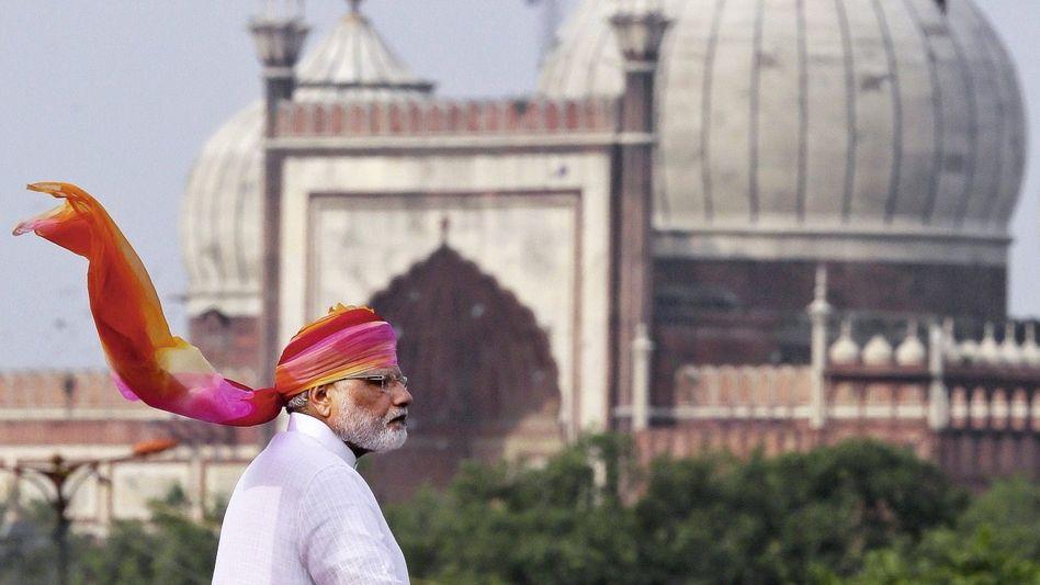 Regierungschef Modi in Neu-Delhi: Rächer der Armen