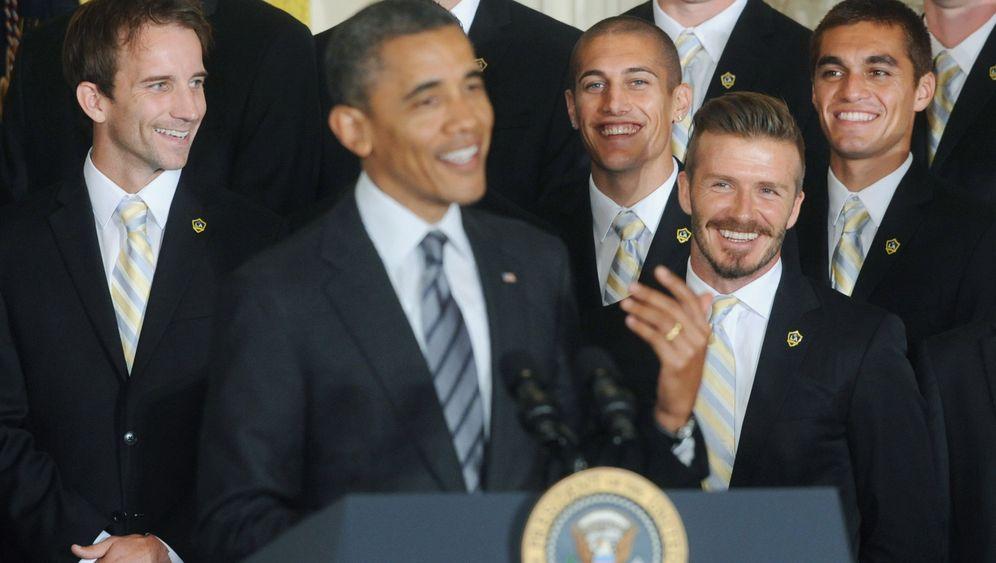 Beckham trifft Obama: Alte Herren unter sich