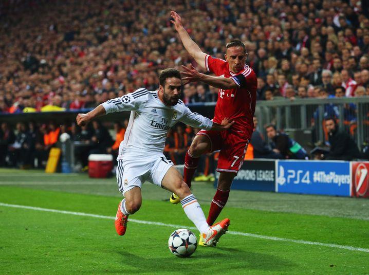 Reals Carvajal, Bayerns Ribéry: Ohrfeige kurz vor der Halbzeit