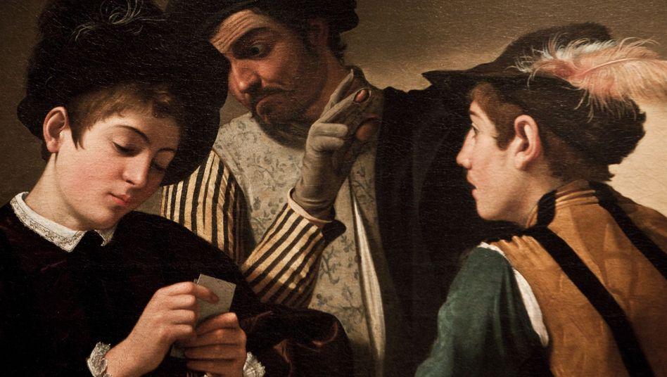 """Detail aus dem Werk """"Die Falschspieler"""" des Mailänder Malers Caravaggio"""