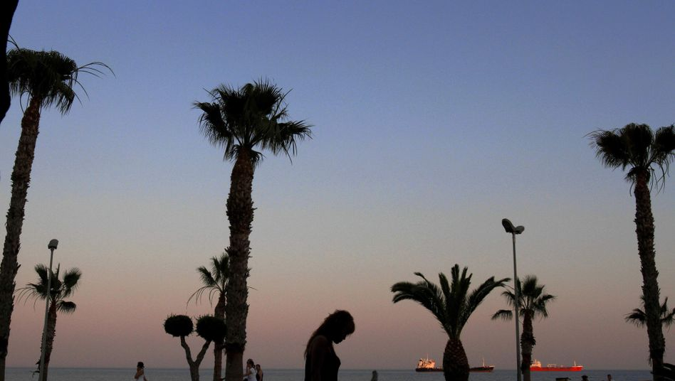 Palm trees in Limassol, Cyprus, seen as a haven for rich Russians.