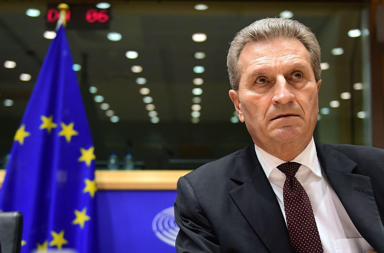 Günther Oettinger / EU-Parlament