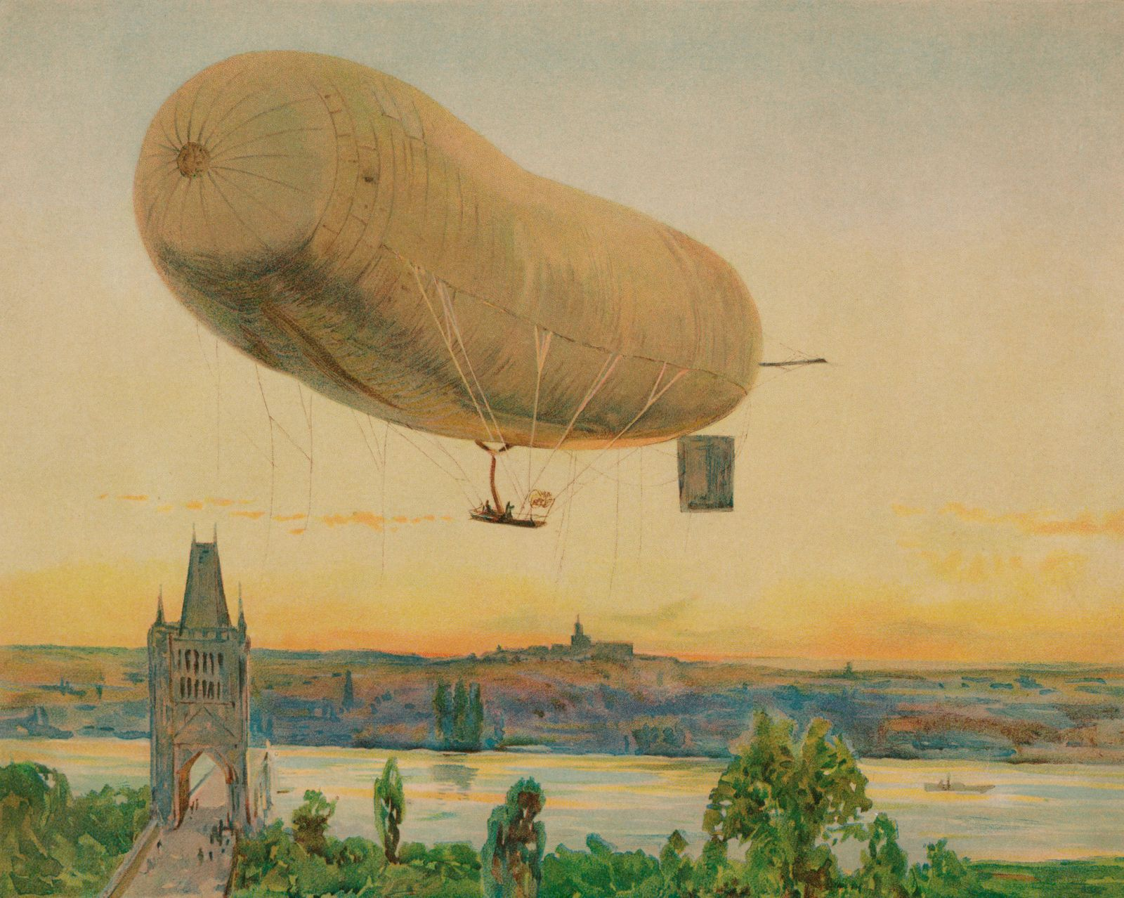 ?The Parseval III: German Military Airship?, 1909.