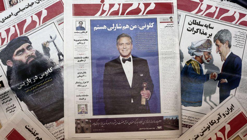 Charlie Hebdo Tageszeitung In Teheran Verboten Der Spiegel
