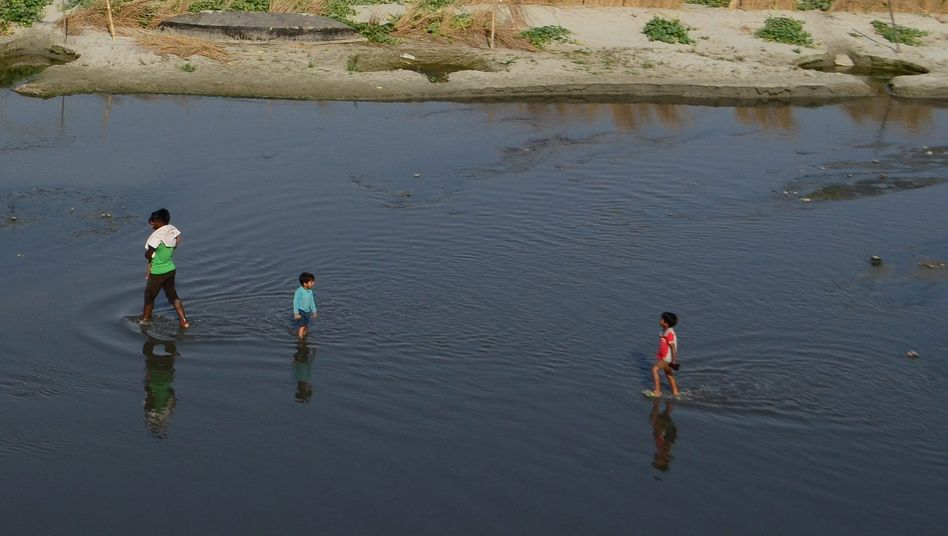 Ganges bei Allahabad, Indien