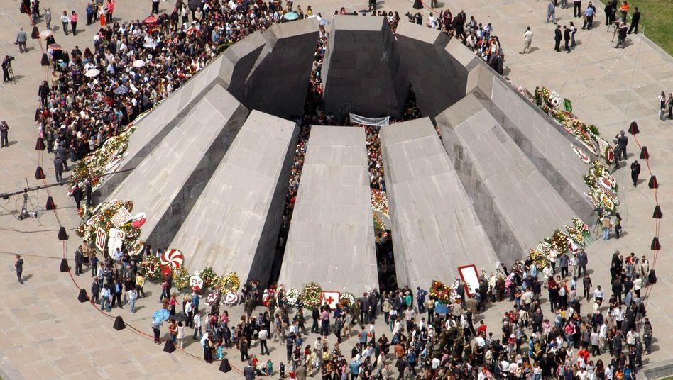 Gedenkstätte an das Massaker in der armenischen Hauptstadt Eriwan.
