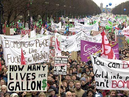500.000 Menschen demonstrierten rund ums Brandenburger Tor