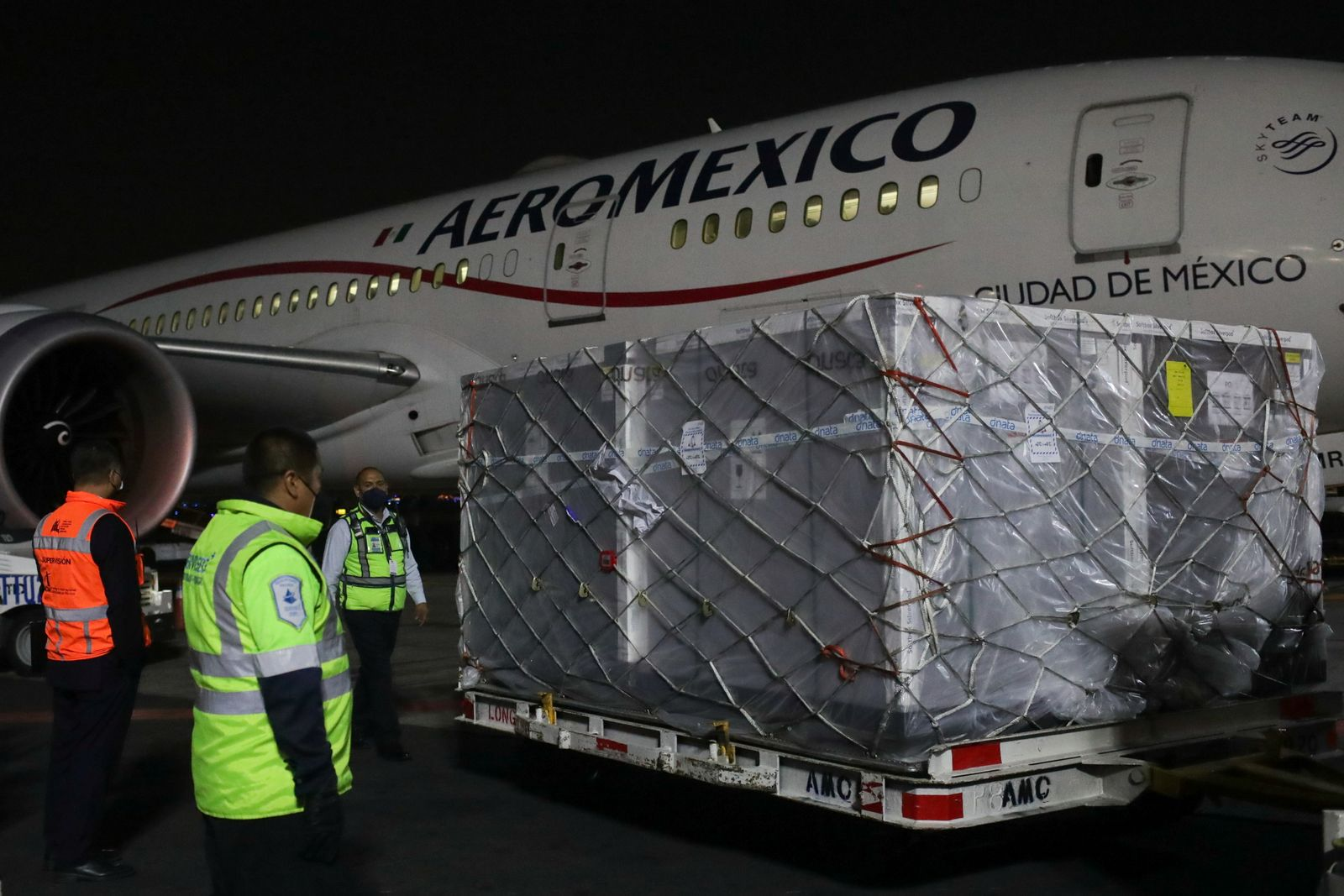 First shipment of AstraZeneca COVID-19 vaccine delivered under the COVAX scheme arrives in Mexico City