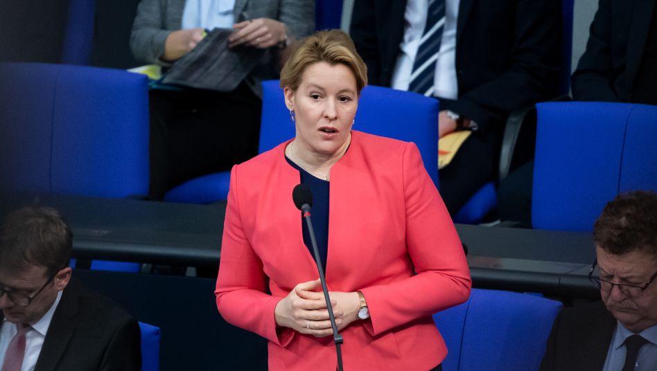Familienministerin Franziska Giffey schlug zuletzt eine Quote für die Vorstände von Unternehmen vor