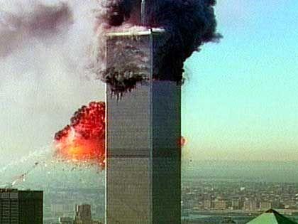 Das World Trade Center in Flammen