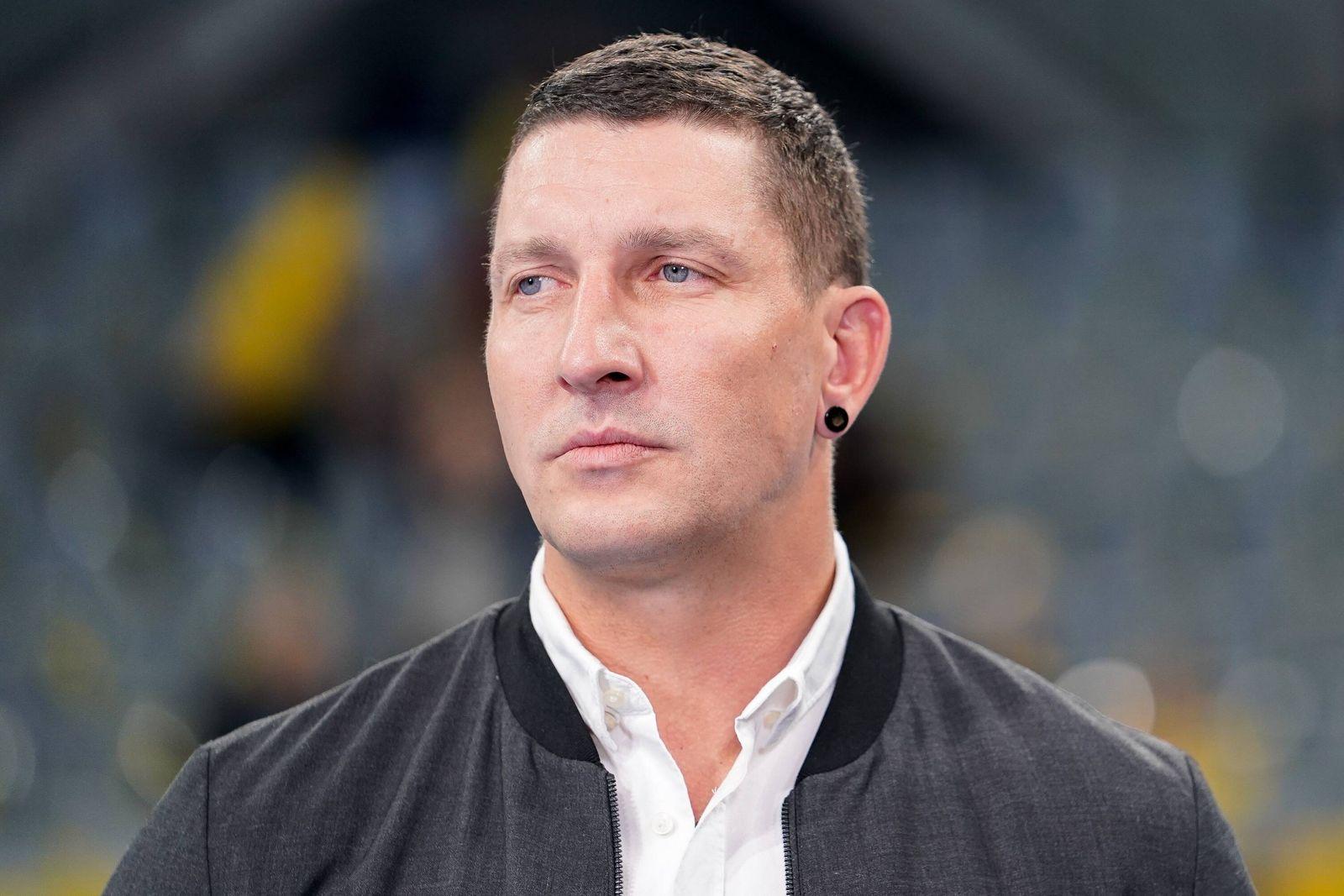 Stefan Kretzschmar TV Experte Einzelbild Aktion Action Porträt Portrait Handball DKB Bund