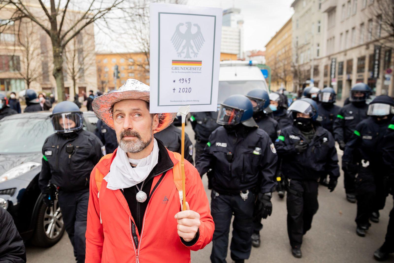 Demonstration gegen Corona-Regeln