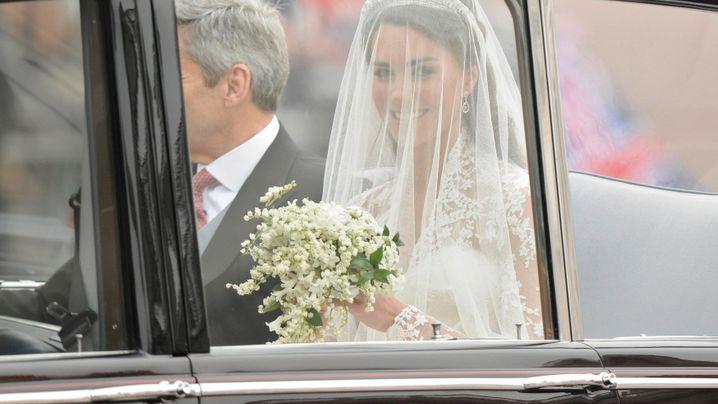Kate Middleton: Braut mit schlichtem Schleier