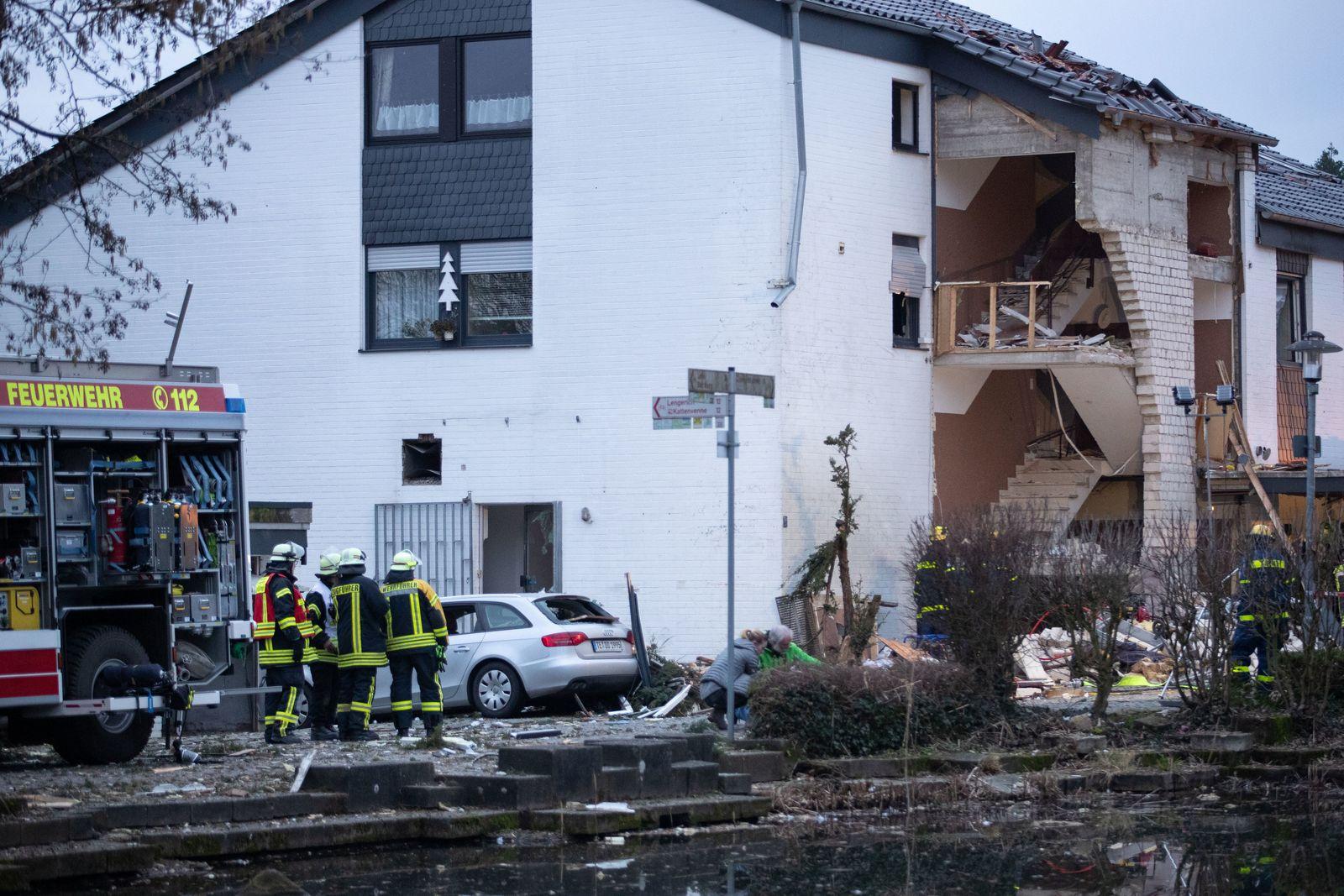 Gasexplosion in Mehrfamilienhaus