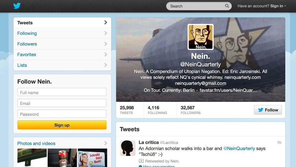 """Twitter-Account von NeinQuarterly: """"When in doubt, Umlaut."""""""