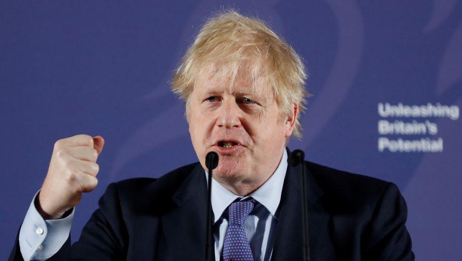 Premierminister Boris Johnson: Liefern, was den Brexit-Befürwortern versprochen wurde