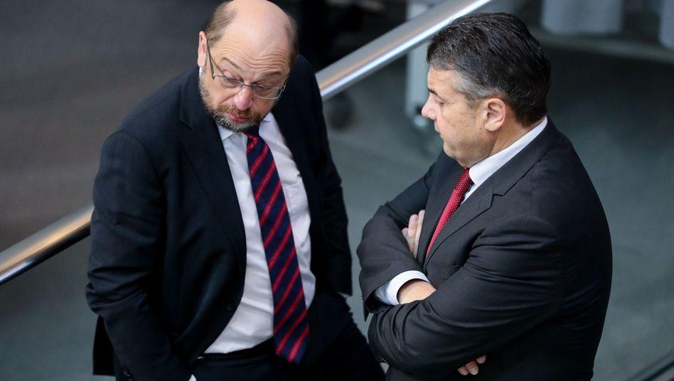 Martin Schulz mit Sigmar Gabriel