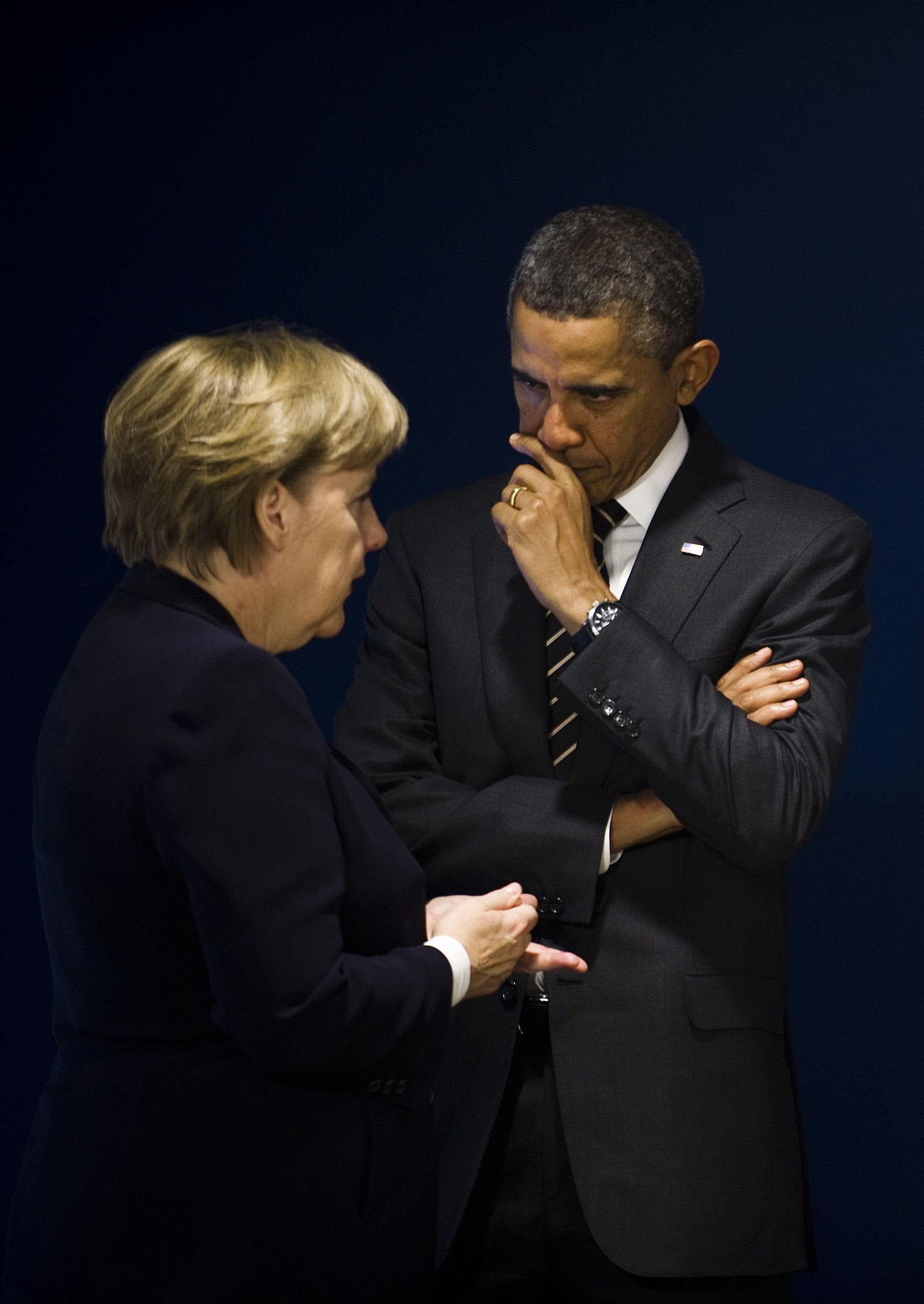 Obama mit Merkel