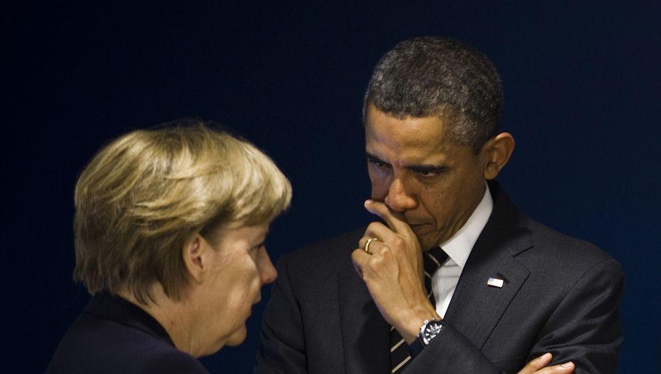 Kanzlerin mit US-Präsident Obama: Unwürdige Lösung