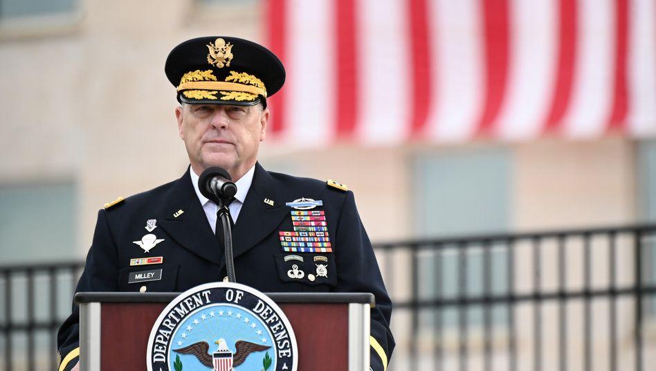 Mark. A. Milley während der jährlichen Zeremonie in Erinnerung an die Attentate vom 11. September 2001