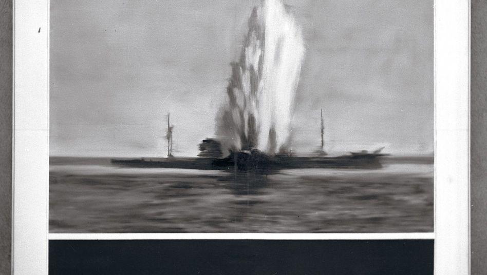 Fotografie von zerstörtem Richter-Gemälde aus den sechziger Jahren