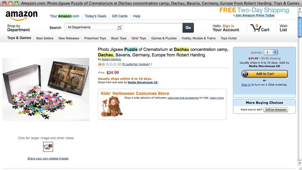 Screenshot/ Amazon/ Puzzle Dachau