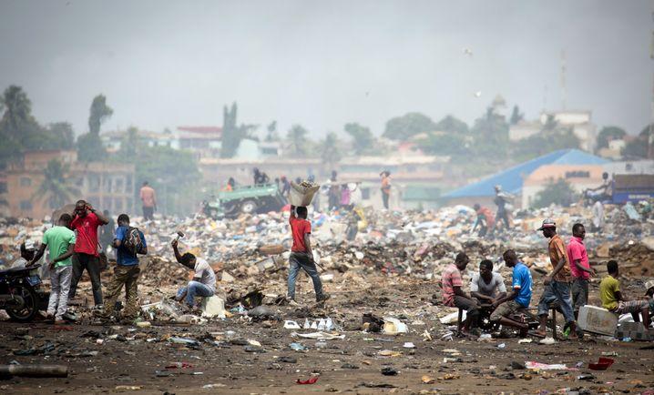 Müllhalde für Elektroschrott in Accra