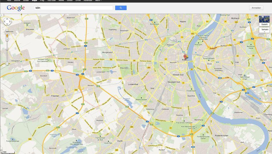Google Maps: Köln liegt jetzt an der Ruhr - aber auf der digitalen Karte