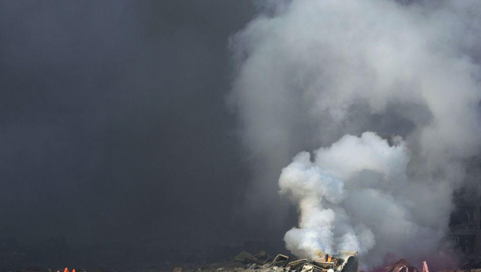 Unglücksort Tianjin: Wie es zu den Detonationen kam, ist noch immer unklar.
