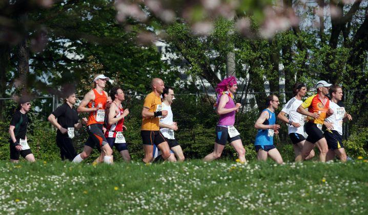 Typisch Läufer: Am Wochenende rudelweise in Deutschlands Grüngürteln