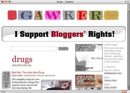Gawker-Seite: Nach Schätzungen setzt das Netzwerk 1,5 Millionen Dollar im Jahr mit Anzeigen um