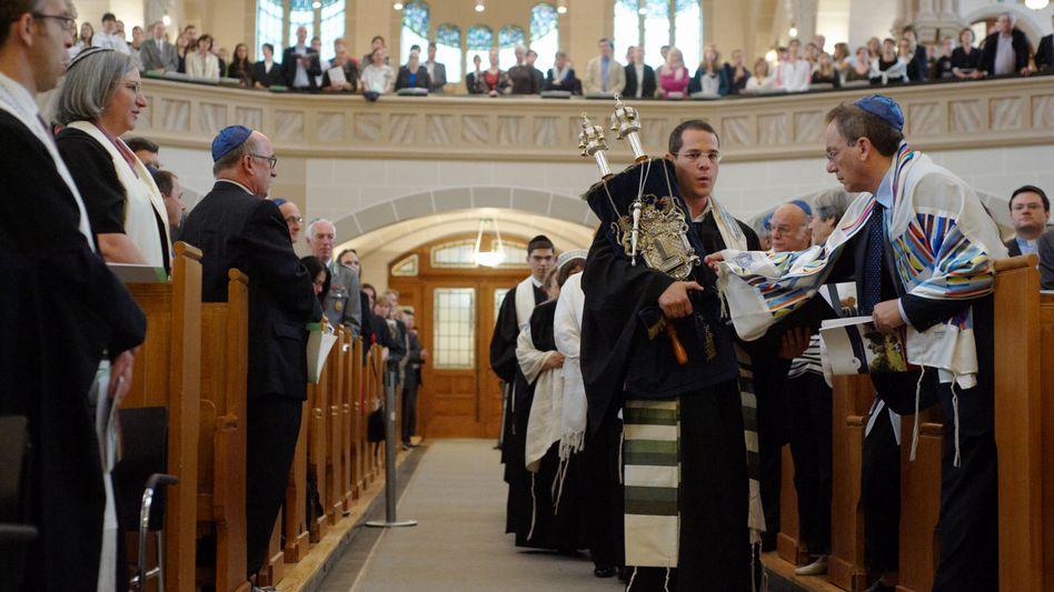 An ordination service at a Berlin synagogue