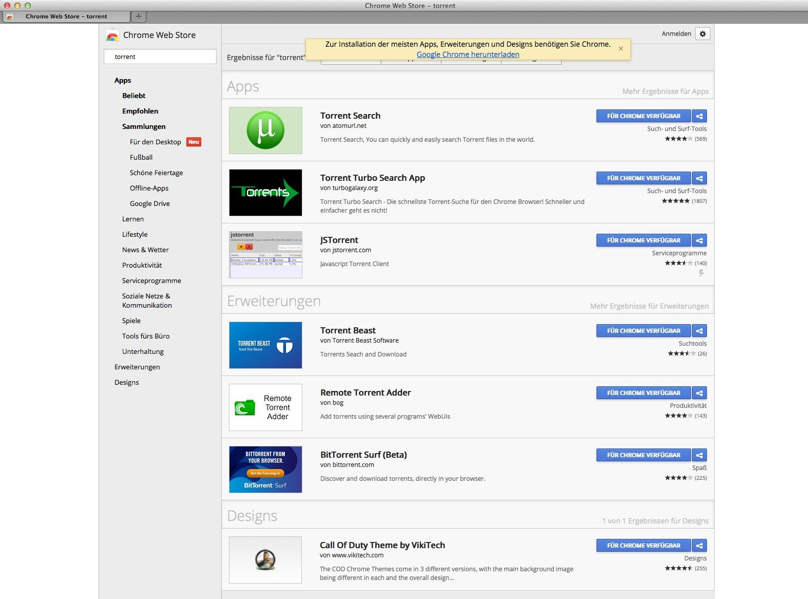 EINMALIGE VERWENDUNG Google Chrome Webstore SCREENSHOT