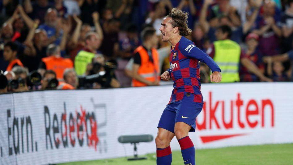 Was für ein Heimspieldebüt für Antoine Griezmann im Trikot des FC Barcelona