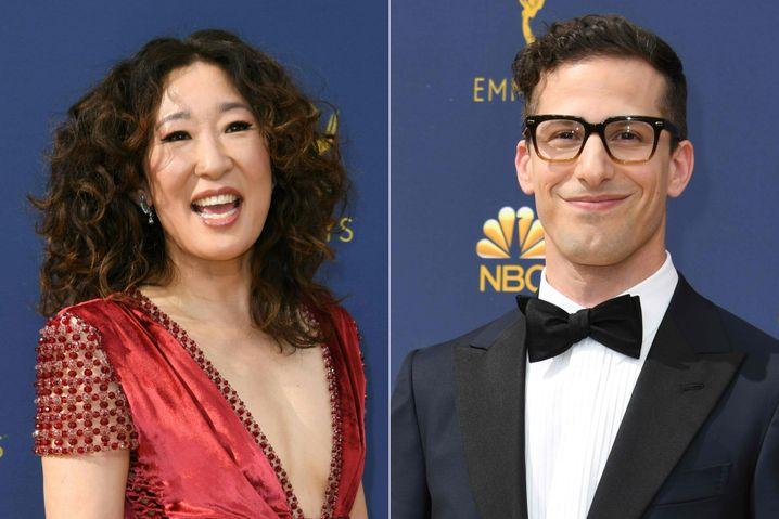 Sandra Oh und Andy Samberg werden die Golden Globe Awards moderieren