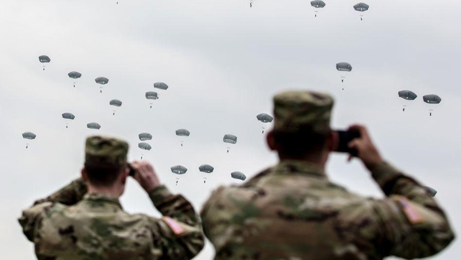 US-Soldaten bei Übung in Deutschland (Archivbild): Sorgen vor einer Schwächung des transatlantischen Bündnisses
