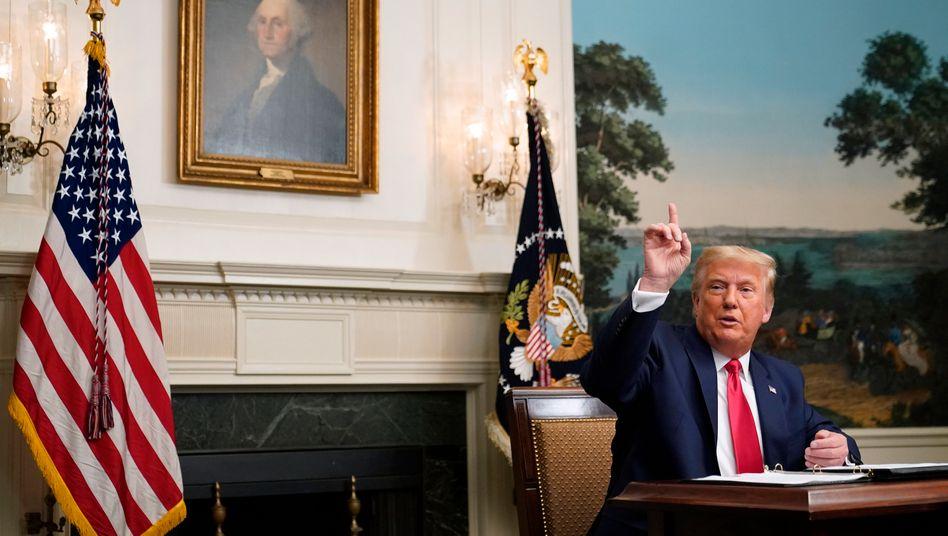 Donald Trump im Weißen Haus – aber nicht mehr lange (Archivbild)