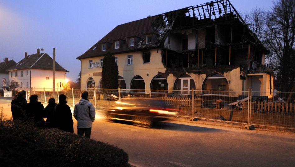 Zerstörtes Haus in Zwickau: Hier lebten Zschäpe, Mundlos und Böhnhardt
