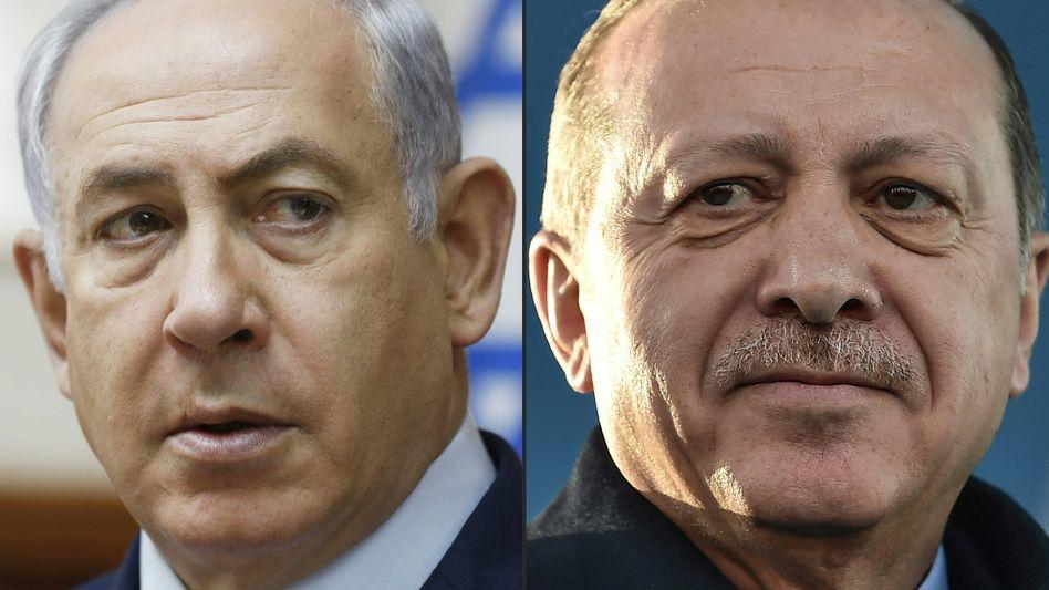 Israels Premier Netanyahu, türkischer Präsident Erdogan