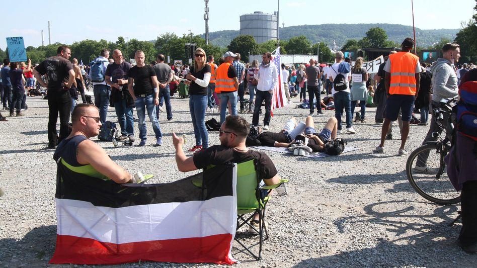 Sogenannte Querdenker-Demo in Bad Cannstatt (Archiv, Symboilbild)