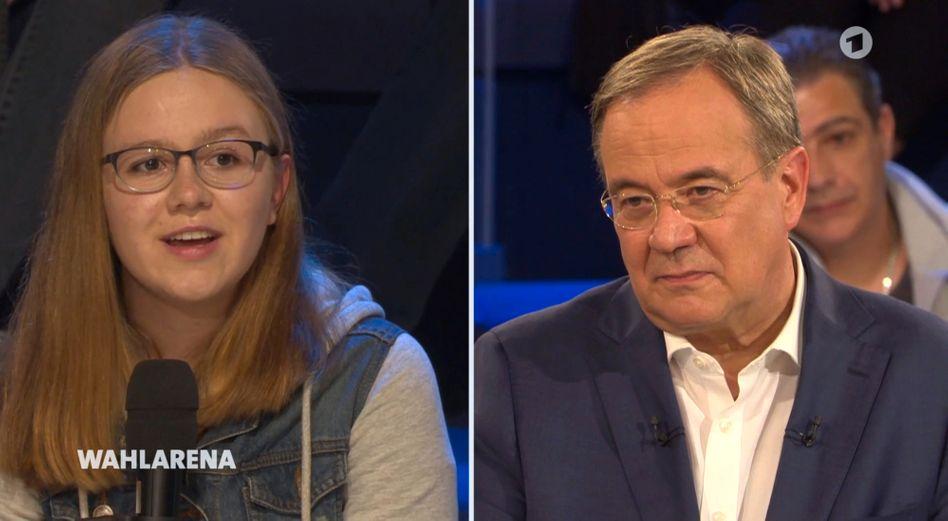 Wer ist das Volk in der »Wahlarena«? Eine 15-jährige »Fridays for Future«-Aktivistin befragt Armin Laschet