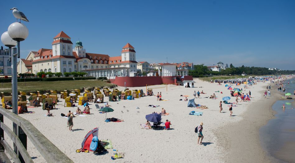 Strand des Ostseebades Binz