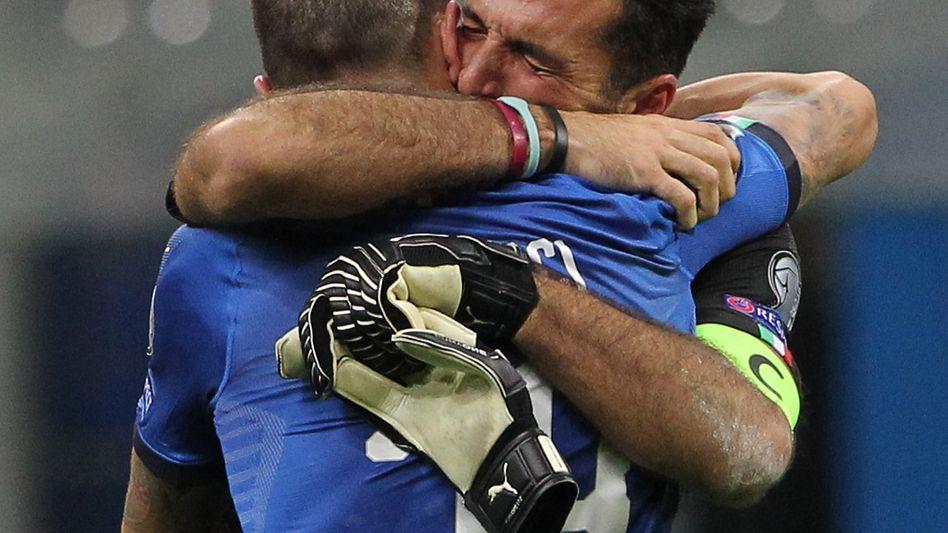 Buffons Tränen nach dem Aus in der WM-Qualifikation