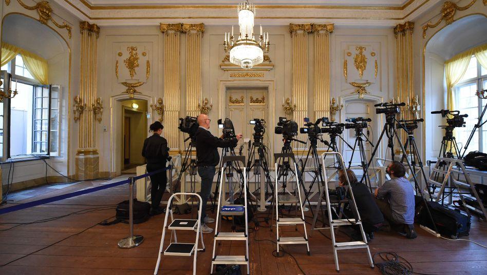 Journalisten in Erwartung der Nobelpreisbekanntgabe (Archivbild)